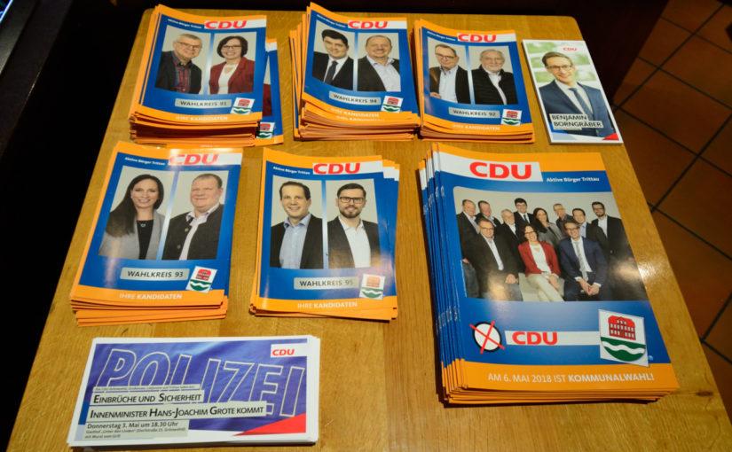 CDU Trittau das Programm für die Kommunalwahl 2018